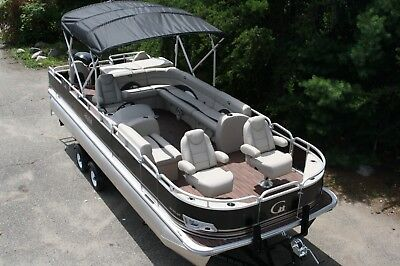 New 24  fish and fun Grand Island pontoon boat with 150 and trailer