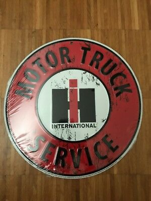 International Harvester Case truck Schild 30x15cm OVP top