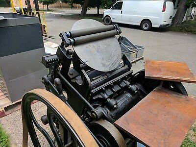 Chandler & Price Platen Press Old Series 10 x 15  Printing Press Letterpress