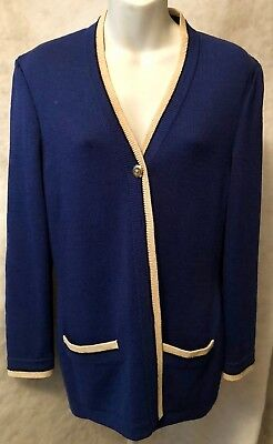 St. John Collection By Marie Gray Size 2 Knitted & Buttoned Jacket