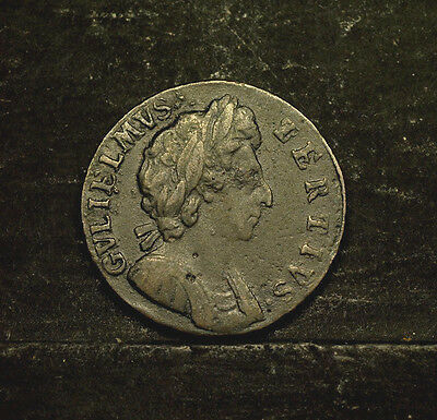 Great Britain, Farthing  1695 gVF/VF,  William III