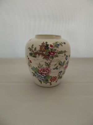 Crown Staffordshire Fine Bone China Pagoda Vase *PERFECT*