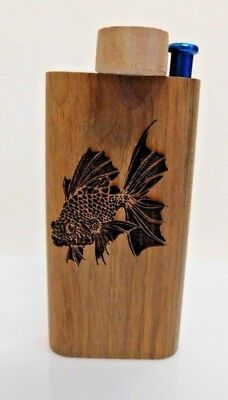 Etched Koi Fish Wooden Dugout with Metal Bat