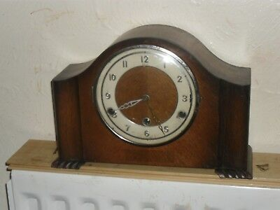 Bentima Art Deco  Mantel Clock with Westminster chime