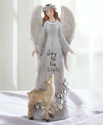 The Lakeside Collection Elegant Sentiment Angels - Joy to the World