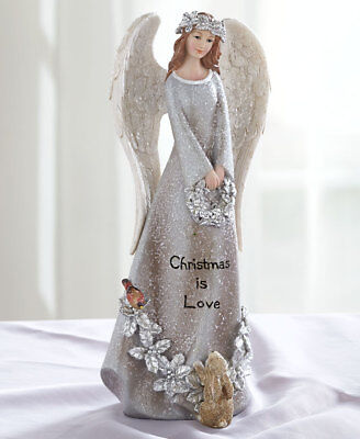 The Lakeside Collection Elegant Sentiment Angels - Christmas is Love