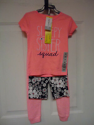 Carters Girls 3 Piece Sleepy Sister Squad Floral Pajama Set Size 3T - NWT