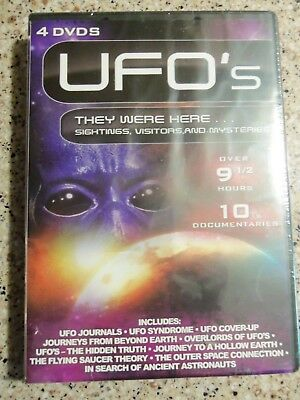 10 Rare Ufo Documentaries On Dvd; Nos Out-Of-Print; Factory Sealed; 9-1/2+ Hours