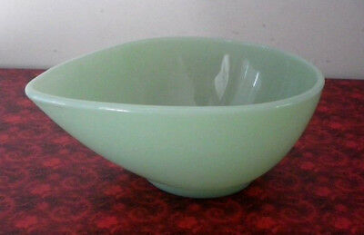 Vintage Fire King Jadite Green Mid Century Swedish Modern Tear Drop Mixing Bowl