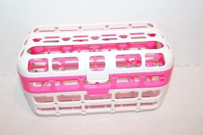 Munchkin Deluxe Dishwasher Basket-Pink and White-Great Condition