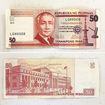 Phillipines 50 Piso Currency Money 2013