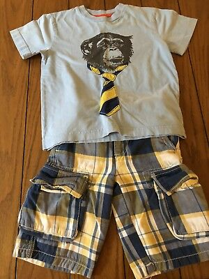 Mini Boden Boys Shirt Shorts Set 5 6