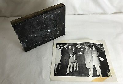 Vintage Bespoke Letterpress Wooden Printing Block from Photo - Unknown Group 60s