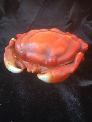 Vintage Pottery Crab Dish With Lid
