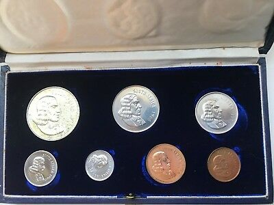 1966A South Africa Silver Mint Proof Set Coins - Original Display case