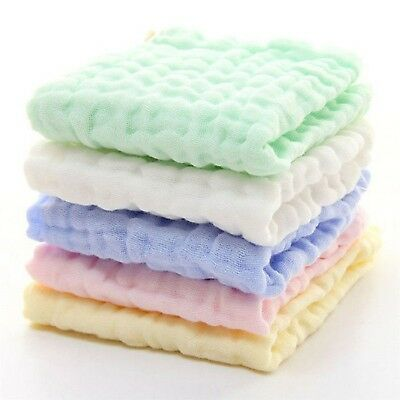 Cotton Towel 6 Layers Baby Infant Newborn Saliva Washcloth Feeding Wipe Cloth