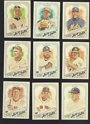 Verzamelkaarten, ruilkaarten 2018 TOPPS ALLEN & GINTER MINI PARALLEL LOGO BACK FINISH SET YOU PICK # 1-350 RC Honkbal