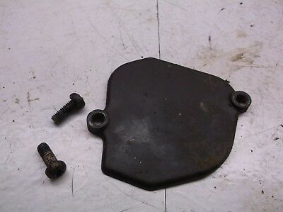 73 Honda MT 125 Elsinore  Oil Injection Pump Cover w Bolts  OEM T2