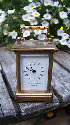 Matthew Norman Brass 1760 Eleven Jewels Small Carriage Clock London