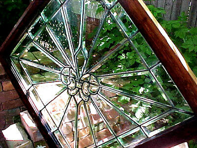 Detroit Antique Architecture Victorian Beveled Glass Window Leaded Stained Glass