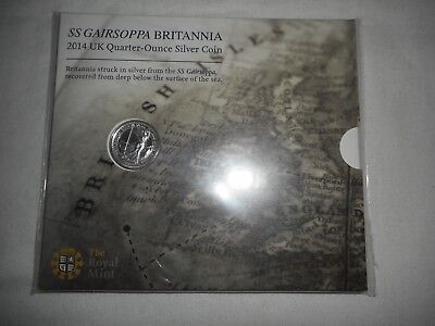 2014 SS GAIRSOPPA Britannia quarter ounce Silver coin Sealed lot # 12