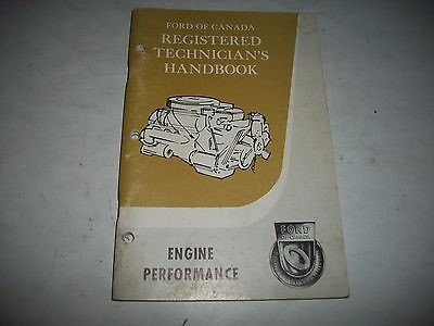 Ford Registered Technician Handbook  1962-  Engine Performance