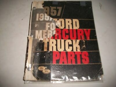 1957-1958 Ford & Mercury Trucks Master Parts Catalog Usa & Cdn  Chassis Body