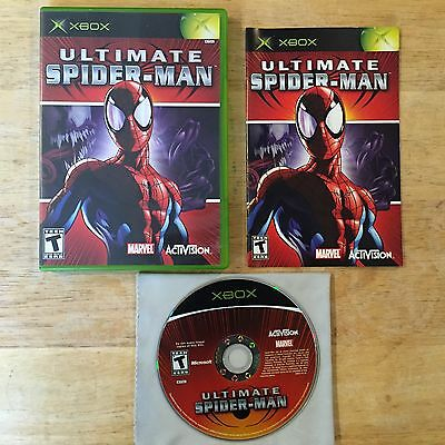 Ultimate Spider-Man Black Label Original Microsoft Xbox System Complete Game