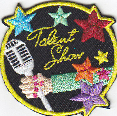 TALENT SHOW Iron On Patch Acting Stage Actor Music