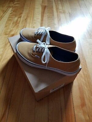 Vans Authentic YELLOW Suede Ochre True White Canvas Size 9.5