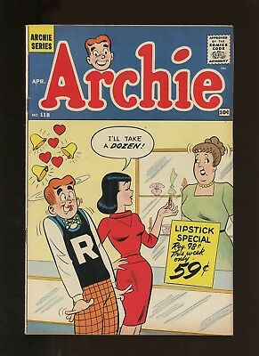 Archie 118 VG/FN 5.0 * 1 Book Lot * 1961! Classic Silver Age Comics!