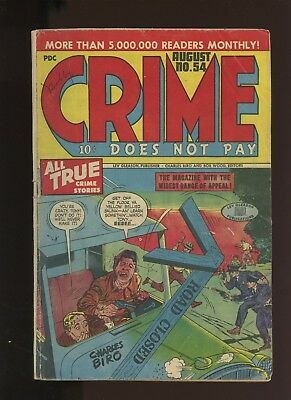 Crime Does Not Pay 54 VG 4.0 *1 Book* 1947,Golden Age! Crime's Dumbest Wise Guy