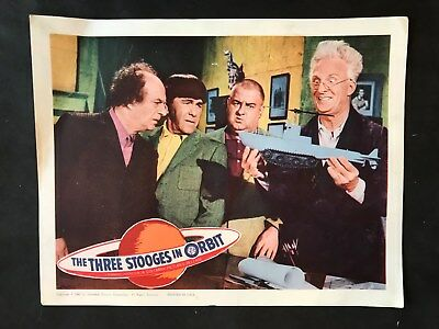 THREE STOOGES IN ORBIT- Lobby Cards (4 Cards)