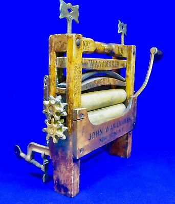Antique Wanamaker No. 110 Wringer Washer / Patented June 20, 1889