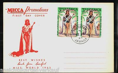 224.325 Jamaica, Miss World 1963, First day cover, Mecca Promotions