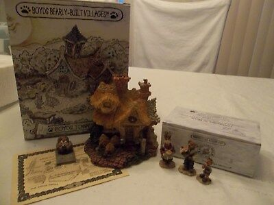 Boyds Bearly Built Village Town Baileys Cozy Cottage & Accessory 1St Edition New