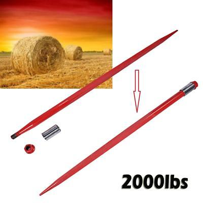"49"" Square Hay Bale Spear 2000lbs capacity 1 3/4"" wide w/ nut and sleeve Conus 2"