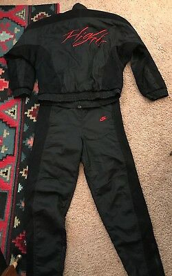 bd34d106082381 OG VINTAGE 80 s NIKE AIR JORDAN IV FLIGHT BRED FLIGHT SUIT NYLON SWEAT SUIT  SZ L