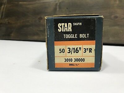 "STAR TOGGLE BOLT 3/16"", 3 