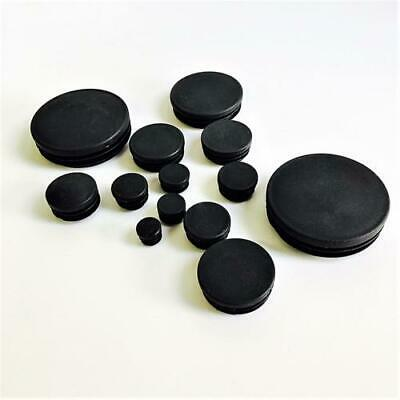 10/50/100pcs Round Plastic End Caps for Steel Tubing - Many Sizes Plastic Caps
