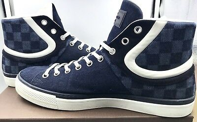 c17fde5f59f9 LOUIS VUITTON LV Men s Damier Jean High Top Sneakers Size 12 ...