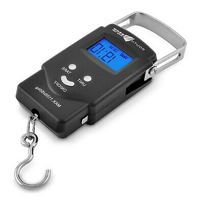 Digital Fishing Scale Weight Hand Held Weighing Best Hanging Portable LCD 110Lbs