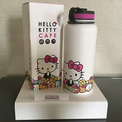 Hello Kitty Cafe Large Thermos Insulated To Go Hot Cold Bottle NIB