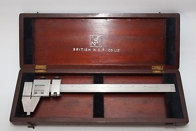 British NSF Vernier Caliper stamped with War Department Broad Arrow and 1944