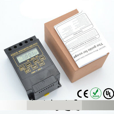 KG316T AC 220/110V Microcomputer Timer Switch Programmable Controller Digital ST