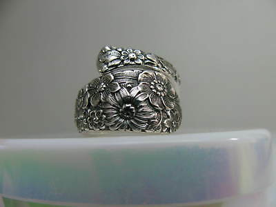 Sterling Silver spoon RING s 6 BRIDAL BOUQUET Jewelry # 6267