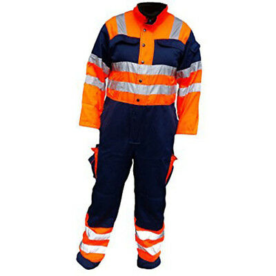 Hi Visibility Heavy Duty Contrast Recovery Coveralls HYM966