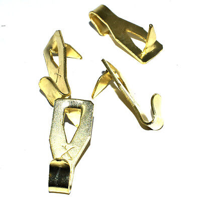 BRASS HOOKS FOR DRYWALL SOFT PLASTERBOARD WALLS HANG PICTURE FRAME CANVAS 3kg