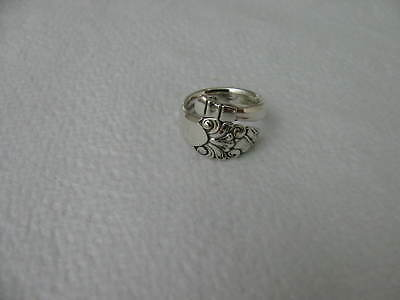 Sterling Silver spoon RING s 5.5 OLD SOVEREIGN # 6269 Floral Jewelry