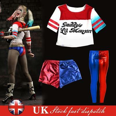 Ladies Halloween Suicide Squad Women's Adult Harley Quinn Costume Fancy T Shirt